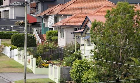 Row of houses in Australia