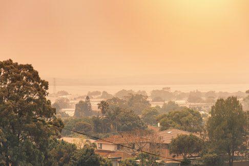 Smoke haze from Australian Bushfires