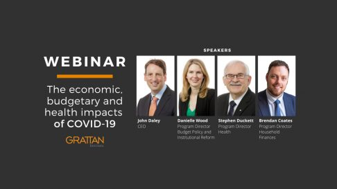 Webinar promotional image for The Economic, budgetary and health impacts of COVID-19