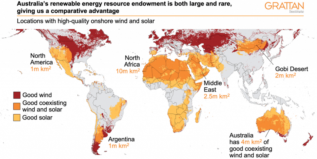 IMAGE DEPICTING LOCATIONS WITH HIGH QUALITY ONSHORE WIND AND SOLAR AROUND THE WORLD