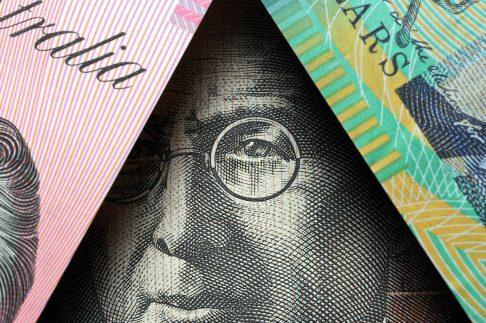 Close up of Australian money