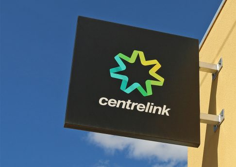 MARYBOROUGH, VICTORIA, AUSTRALIA - February 14, 2016: Centrelink provides a range of government payments and services for retirees, unemployed, families, disabled and people from diverse backgrounds
