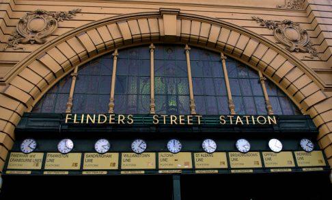 Flinders Street Station clock board