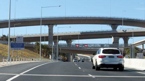 Car driving on the Westconnex freeway in Sydney